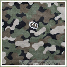 BonEful Fabric FQ Cotton Knit Green Brown Military VTG Camo Army Toy Story Small