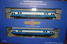 NSWR 1964 TULLOCH DOUBLE DECK ELECTRIC SUBURBAN TRALER CAR BLUE, HIGH WHITE BAND