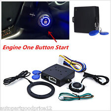 DC 12V Keyless Entry Car Alarm System Push Button Start RFID Lock Engine Starter