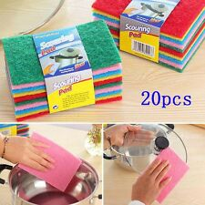 20pcs Scouring Pads Cleaning Cloth Dish Towel Colorful Kitchen Home Scour Scrub
