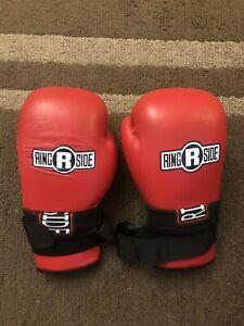 Men's Ringside Boxing Red White Training Gloves 10oz Large USED