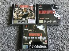 Resident Evil 1 , 2 , 3 Bundle For Sony PlayStation 1, Nice Set Ps1