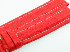 BREITLING UTC BAND 20MM RED ROJA CROCO STRAP CORREA UTC-5