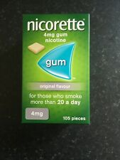 nicorette gum 4mg original. 105 Pieces