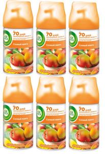 Air Wick Freshmatic Tropical Mango Refill Air Freshener 6x250mls BBE 05.10.22