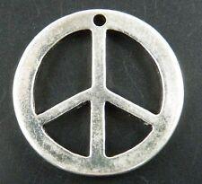 "20pcs Tibetan Silver ""Peace Sign"" Charms 25x2.5mm A342"