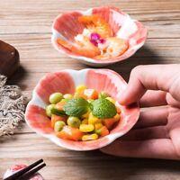Japanese Ceramic Plate Dish Sushi Tableware Retro Floral Dessert Sakura 2X Set