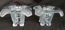 Bagley   Glass Tulip Candle Stands.