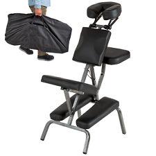 Chaise de massage de traitement pliante avec rembourrage épais tattoo noir