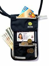 Passport Holder Travel Wallet w/ RFID Card Security Neck Pouch Case ID Safe, NEW