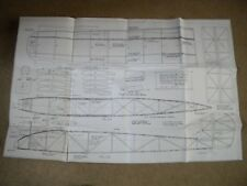 R/C English Electric Wren, plans and documentation including some pre-cut balsa