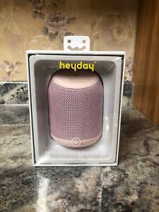 New Heyday Waterproof Wireless Bluetooth Speaker 33ft Range Pink