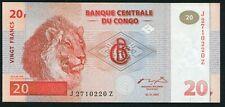 Congo DR 20 francs 1997.11.01. Lion Male & Family P88A HdM Replacement UNC