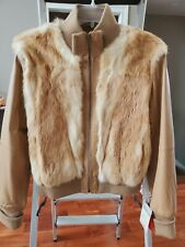 New with Tags $250 Genuine Leather Junior's / Women's Rabbit Fur Jacket