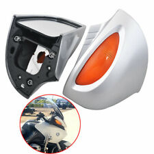Silver Rearview Mirrors Amber Turn Signal Lens For BMW R1100RT R1100 RTP R1150RT