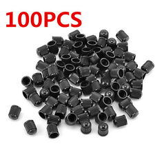 100X Black Plastic Tyre Tire Alloy Wheel Dust Valve Cap Universal Car Bike Cycle