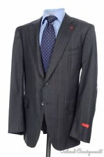 NWT $3695 ISAIA Gregory Gray Striped Wool Jacket Pants SUIT - EU 58 / US 46 R