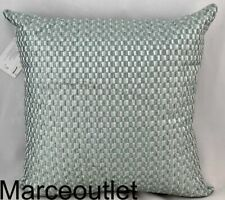 "Hotel Collection Layered Frame 18"" X 18"" Embroidered Decorative Pillow Jade"