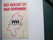 Aufkleber Sticker Radio FFH 1 (M1992)