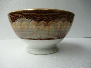 Antiguo Porcelana Cuenco Bali Patrón Marrón Villeroy & Boch Wallerfangen