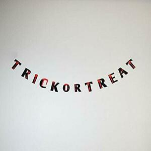 Quasimoon Trick-Or-Treat Bloody Halloween Paper Garland Banner (5FT) PaperLan...