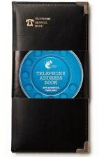 Marca Nuevo Negro y Delgado Estilo de tacto suave directorio telefónico A a Z libreta de direcciones