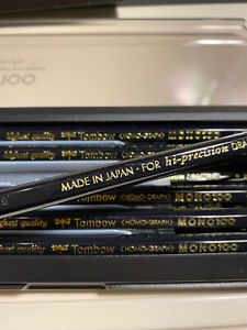 Made in Japan Tombow Mono 100 pencil in 2B, B, HB, F