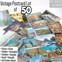 Vintage Postcards Lot of 50 Unused from Rome Venice Capri Mediterranean 1955-60