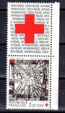 FRANCE TIMBRE CROIX ROUGE AVEC VIGNETTE 2449 ** MNH D VIEIRA DA SILVA - 1986