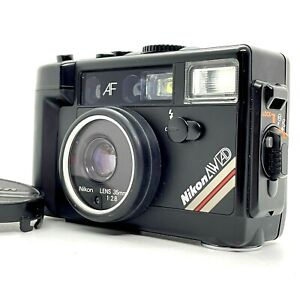 【OVERHAULED】NIKON L35 AW AD Black Water Proof Point & Shoot Film Camera JAPAN