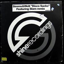 """Simms & Welt - Disco Sucks 12"""" VG+ SHINE004 Vinyl UK Techno 2003 Record"""