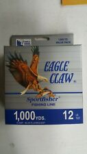 Eagle Claw clear 12 lb test fishing line 1000 yds