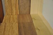 "LAST ONE! Zebrawood, Walnut, Poplar Wood Veneer - 17 pieces each, 5""x 8""   IC35"