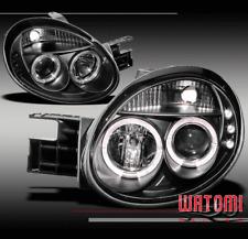 03 04 05 DODGE NEON DUAL HALO LED BLACK PROJECTOR HEADLIGHT LAMP LEFT+RIGHT PAIR