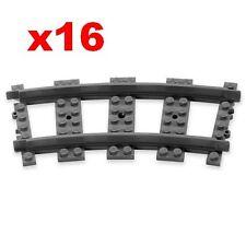 Pista De Tren De Lego 16 piezas curvas hace un círculo para 10233 10194 10219 7597 9467