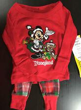 Disneyland Christmas Santa Mickey Mouse Duffy Bear Pajamas Infant Size 6 months