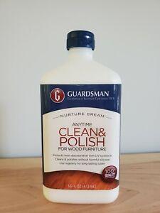 Guardsman Clean & Polish For Wood Furniture - Cream Polish 16 oz - Silicone