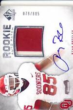 ryan broyles rc rookie draft auto jersey oklahoma sooners ou college 2C #/885 12