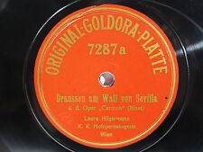 78rpm LAURA HILGERMANN sings Carmen (Bizet) - ORIGINAL GOLDORA PLATTE Top Rare !