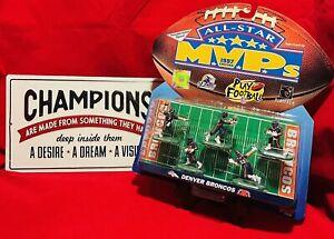 Rare! 1997 NFL All-Star MVP Edition Denver Broncos Poseable Action Figures