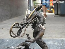 Chinese Pure  Bronze Refined Dragon Royal decoration statue