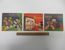 Lot (3) Vintage Walt Disney 78 RPM Little Golden Records Disneyland etc yz4258