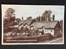 RP Postcard Stratford On Avon - Shakespeare : Anne Hathaway's Cottage #S351