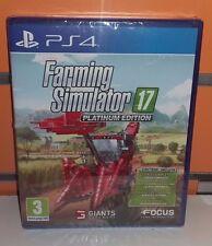 Farming Simulator 17 Platinum Edition PS4 NUOVO ITA