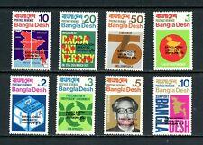 V330  Bangladesh 1971  Independence maps  OVERPRINTED  8v.    MNH