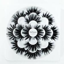 Neflyon Calidad Premium Pestañas 25mm 3 estilos diferentes 100% hecho a mano, suave Visón