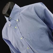 Mens Brooks Brothers Slim Fit Plaids Polo Dress Golf Shirt Size 16.5 2/3 Large