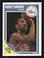 1989-90 Fleer Hersey Hawkins RC #117 Philadelphia 76ers NRMINT / MINT.