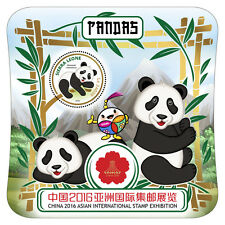 Sierra Leone 2016 MNH Pandas China 2016 Asian Int Stamp Exhibition 1v S/S Stamps