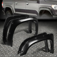 "FOR 14-17 TUNDRA 2ND GEN SMOOTH POCKET-RIVET WHEEL FENDER FLARES 1.75"" 4PC COVER"